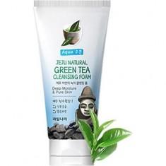 Пенка для умывания Jeju Natural Green Tea Cleansing Foam WELCOS