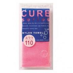 мочалка для тела средней жесткости (розовая) o:he cure nylon towel (regular)
