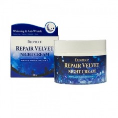 крем для лица ночной восстанавливающий deoproce moisture repair velvet night cream