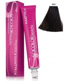 MATRIX 5AV краска для волос, светлый шатен пепельно-перламутровый / СОКОЛОР БЬЮТИ 90 мл