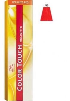 WELLA PROFESSIONALS /43 краска для волос, красная комета / Color Touch Relights 60 мл
