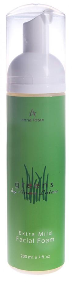 ANNA LOTAN Мусс деликатный для очищения кожи лица Гринс / Extra Mild Facial Foam GREENS 200 мл