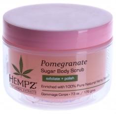 HEMPZ Скраб для тела, сахар и гранат / Body Scrub Sugar & Pomegranate 176 г