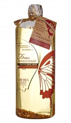 AROMA JAZZ Масло массажное жидкое для тела Лимонный блюз 1000 мл
