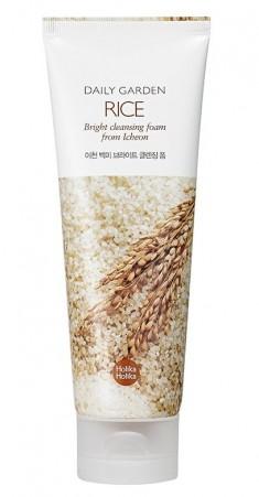 HOLIKA HOLIKA Пенка очищающая с рисом Дейли Гарден / Daily Garden Rice Bright cleansing foam from Icheon 120 мл