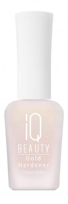 IQ BEAUTY Укрепитель с золотой пылью для ногтей / Gold Hardener 12,5 мл