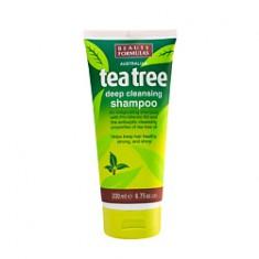 BEAUTY FORMULAS Шампунь для волос для глубокой очистки Чайное дерево 200 мл