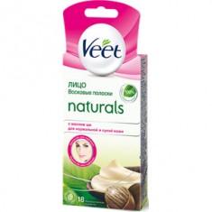 Veet Naturals полоски восковые для депиляции лица с маслом Ши N20