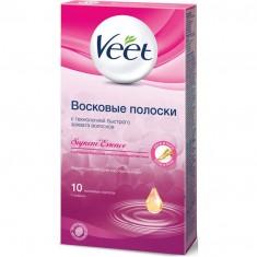 Veet полоски восковые с ароматом бархатной розы и эфирными маслами N10