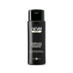Шампунь-восстановление с экстрактом камелии и подсолнечника для окрашенных волос, 250 мл (Nirvel)