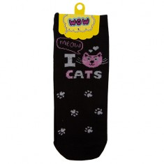 Носки женские SOCKS I cats black р-р единый