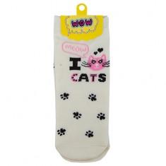 Носки женские SOCKS I cats white р-р единый