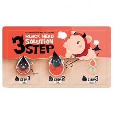 набор для удаления черных точек elizavecca milky piggy black head solution 3 step
