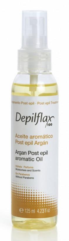 DEPILFLAX 100 Масло для удаления остатков воска, аргана / Argan Post Epil Aromatic Oil 125 мл