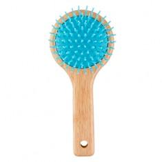 Расческа для волос LADY PINK WOOD массажная круглая голубая