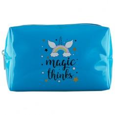Косметичка LADY PINK MAGIC прямоугольная синяя