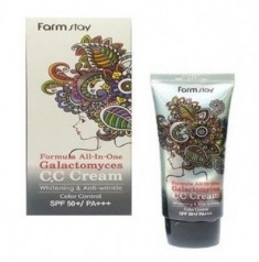 CC-крем с ферментом галактомисис FARMSTAY Formula all-in-one galactomyces CC-cream SPF50 50 г
