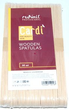 RUNAIL Шпатели деревянные / Cardi 50 шт