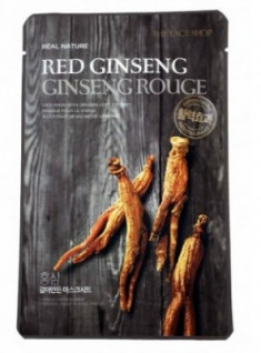 Маска с экстрактом красного женьшеня THE FACE SHOP REAL NATURE MASK SHEET RED GINSENG 20г