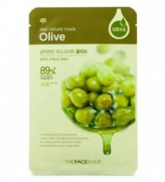 Маска с экстрактом оливы THE FACE SHOP Real nature mask sheet olive 20г