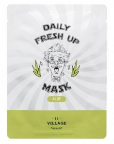 Маска с экстрактом алоэ VILLAGE 11 FACTORY Daily Fresh up Mask Aloe