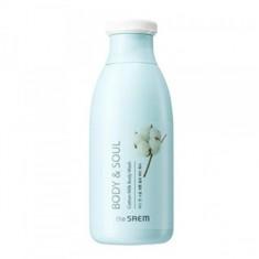 гель для душа молочный the saem body & soul cotton milk body wash