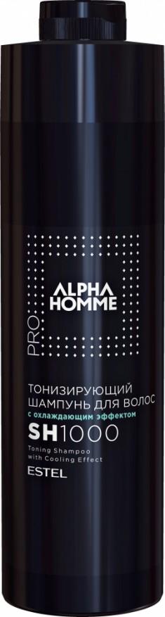 ESTEL PROFESSIONAL Шампунь тонизирующий с охлаждающим эффектом для волос, для мужчин / ALPHA HOMME PRO 1000 мл