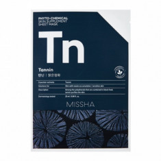Маска тканевая с древесным углем MISSHA Phytochemical Skin Supplement Sheet Mask (Tannin/Purifying)