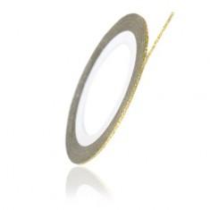 TNL, Нить на клеевой основе перламутровая, бронзовая TNL Professional