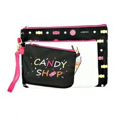 Набор из 3-х косметичек LADY PINK candy