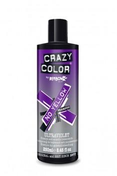 CRAZY COLOR Шампунь для поддержания холодных оттенков / Ultraviolet No Yellow Shampoo 250 мл