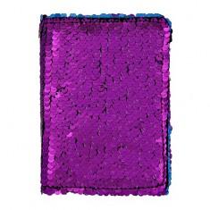 Обложка для паспорта LADY PINK в пайетках фиолетовая