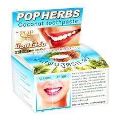 Паста зубная POP HERBS травяная с экстрактом кокоса 30 г