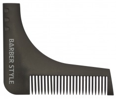 DEWAL PROFESSIONAL Расческа для бороды (черная) 9,5*11 см