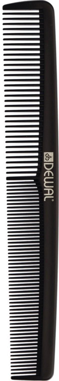 DEWAL PROFESSIONAL Расческа рабочая Magnesium комбинированная (черная) 17,6 см
