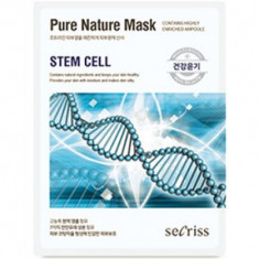 Маска для лица тканевая Anskin Secriss Pure Nature Mask Pack- Stem cell 25мл
