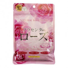 Маска для лица с экстрактом розы Japan Gals Pure5 Essential 7 шт