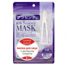 Маска с плацентой JAPAN GALS Pure5 Essential Mask 7 шт