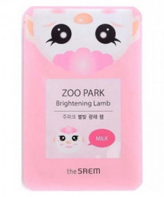Маска для лица для сияния кожи THE SAEM ZOO PARK Brightening Lamb 25мл