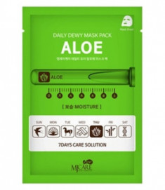 Маска тканевая c экстрактом алое Mijin CARE DAILY DEW MASK PACK ALOE 25гр