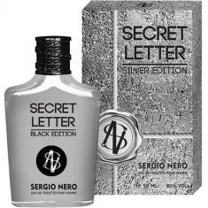 Туалетная вода для мужчин Secret Letter Silver Edition 100 мл SERGIO NERO