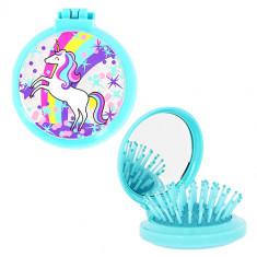Расческа для волос MISS PINKY с зеркалом голубая