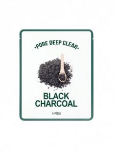 Тканевая маска с древесным углем A'PIEU Pore Deep Clear Black Charcoal Mask 25гр