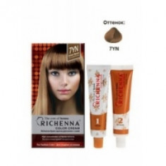 Richenna Color Cream 7 yn - Крем-краска для волос с хной, темно-золотистый блонд