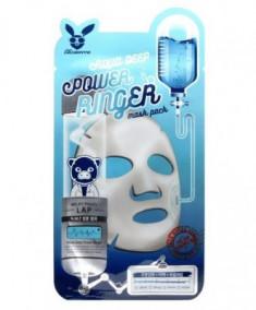 Маска тканевая увлажняющая ELIZAVECCA Aqua Deep Power Ringer Mask Pack