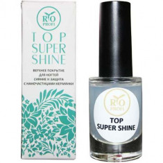 Верхнее покрытие Сияние и Защита ногтей с наночастицами керамики Top Super Shine Rio Profi