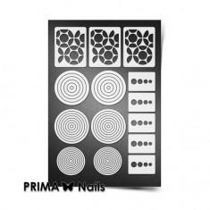 Prima Nails, Трафареты «Геометрия», белые круги