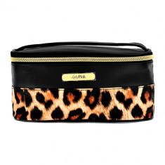 Косметичка-сундучок LADY PINK RAINBOW принт леопард