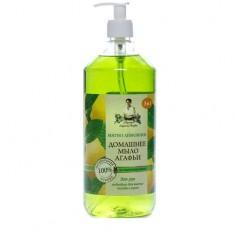 Мыло домашнее 3в1 жидкое Мятно-лимонное Рецепты Бабушки Агафьи