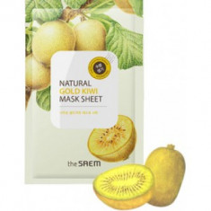 Маска тканевая The Saem с экстрактом киви Natural Gold Kiwi Mask Sheet 21мл